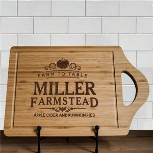Engraved Farmstead Cutting Board