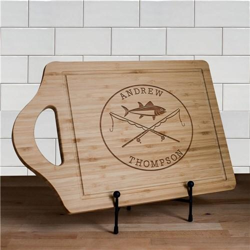 Engraved Fishing Poles Cutting Boards