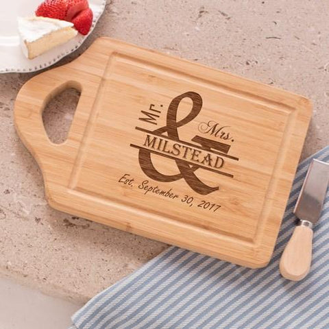 Engraved Mr. and Mrs. Cutting Board
