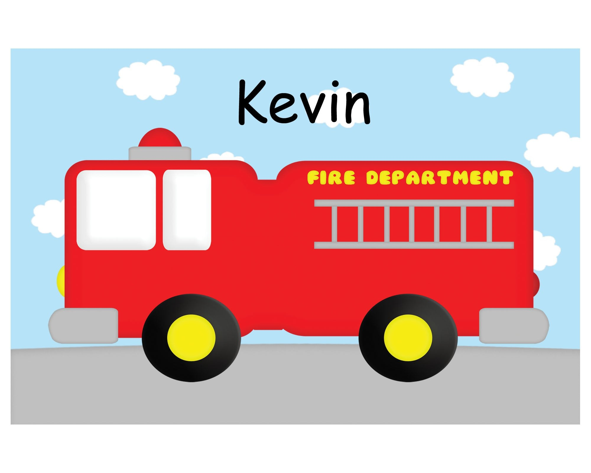 Fire Truck Kids Placemat