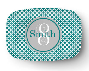 Flower Circles Personalized Platter