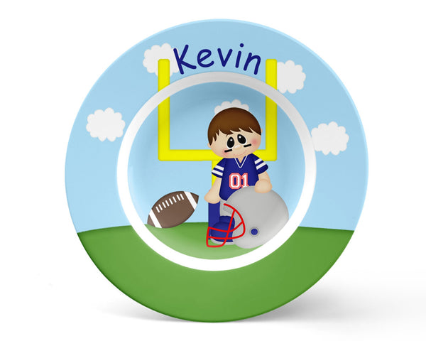 Football Boy Kids Plate