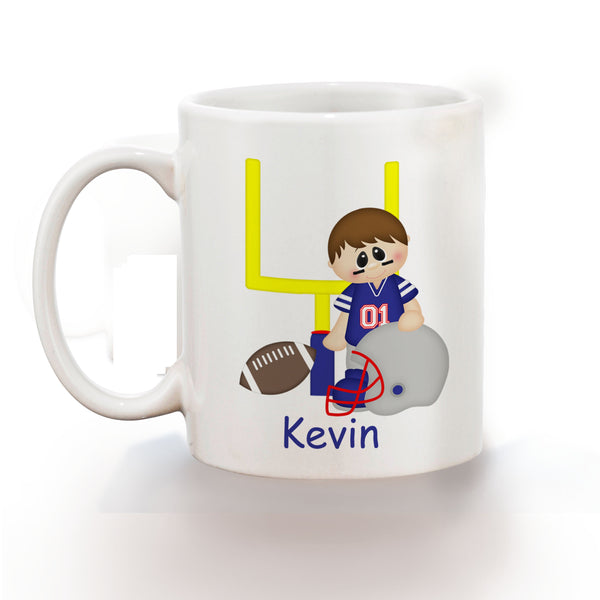 Football Boy Kids Mug