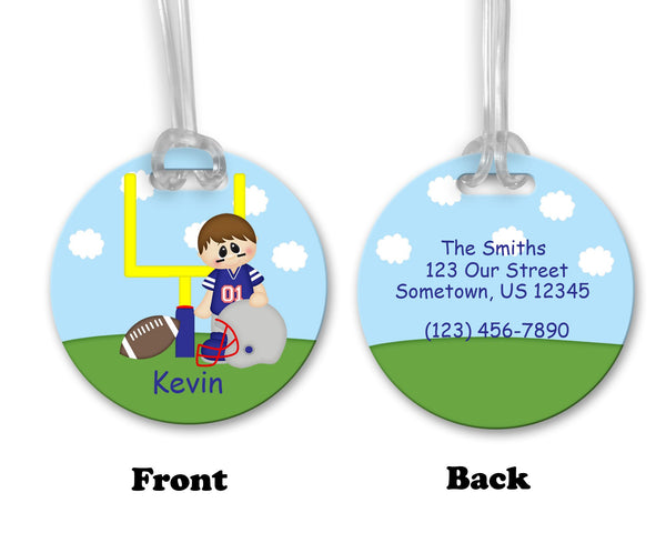 Football Boy Bag Tag