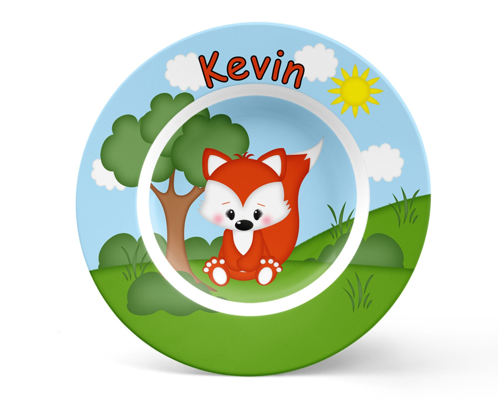 Cute Woodland Fox Kids Bowl