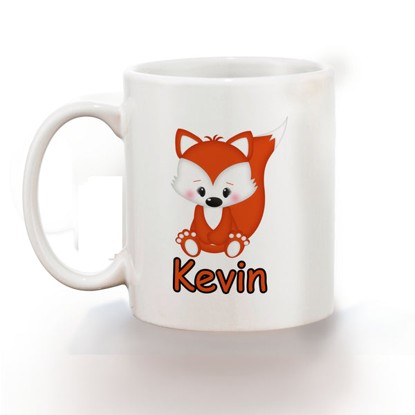 Cute Woodland Fox Kids Mug