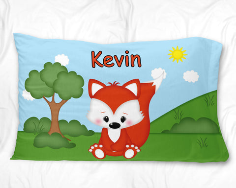 Cute Woodland Fox Pillow Case