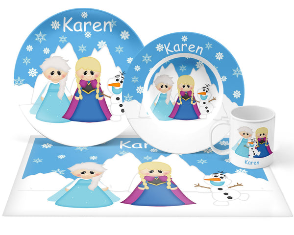 Princess Frozen Kids Plate