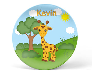 At the Zoo Giraffe Kids Plate