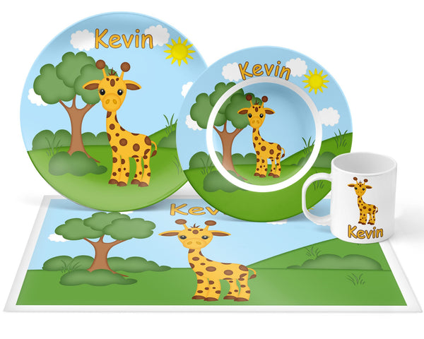 At the Zoo Giraffe Kids Placemat