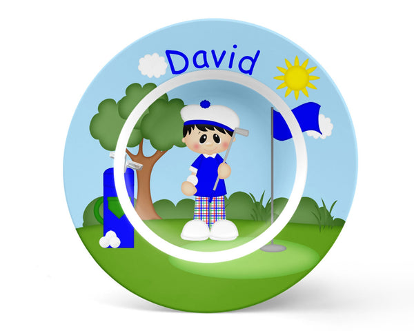 Golfer Boy Kids Placemat