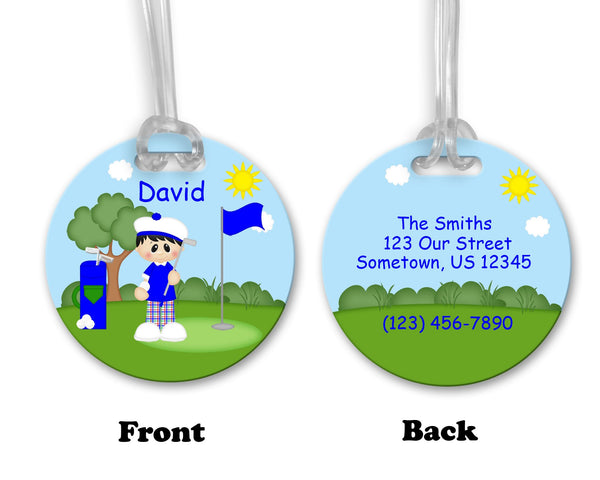 Golfer Boy Bag Tag