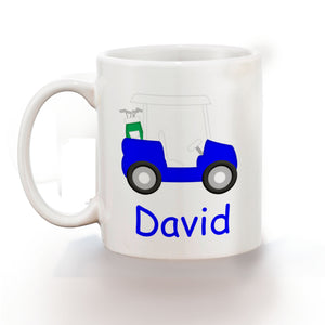 Golf Cart Blue Kids Mug
