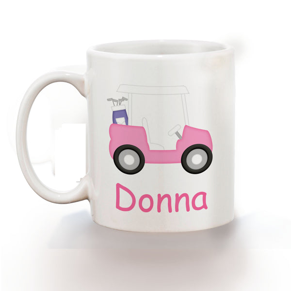 Golf Cart Pink Kids Mug