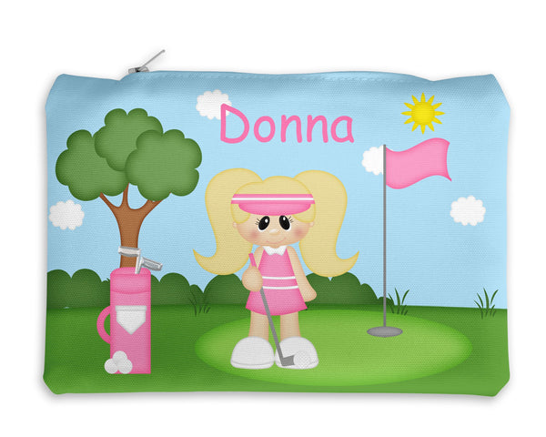 Golfer Girl Kids Notebook