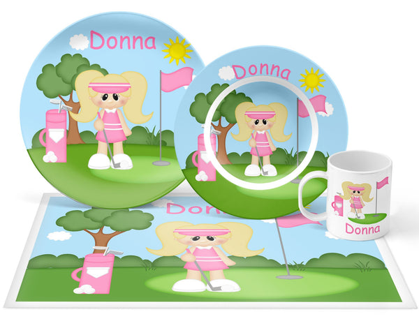Golfer Girl Kids Placemat