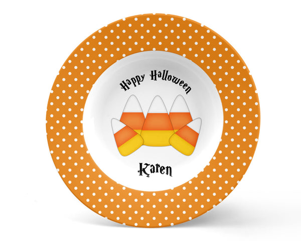 Candy Corn Halloween Kids Bowl
