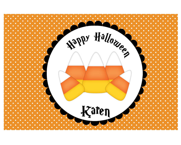 Candy Corn Halloween Kids Placemat