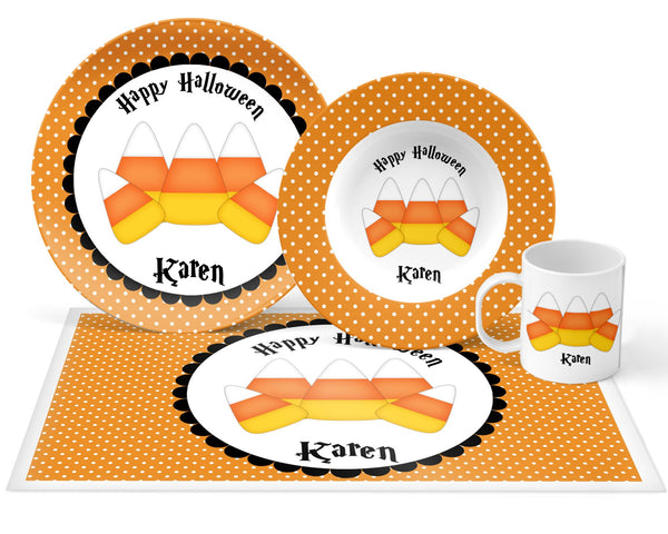 Candy Corn Halloween Kids Plate