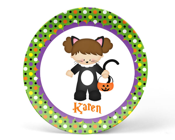 Catgirl Halloween Kids Bowl