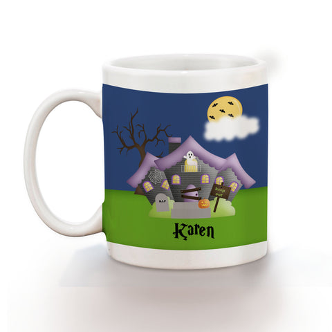 Halloween Haunted House Kids Mug