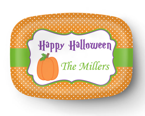 Halloween Pumpkin Personalized Platter