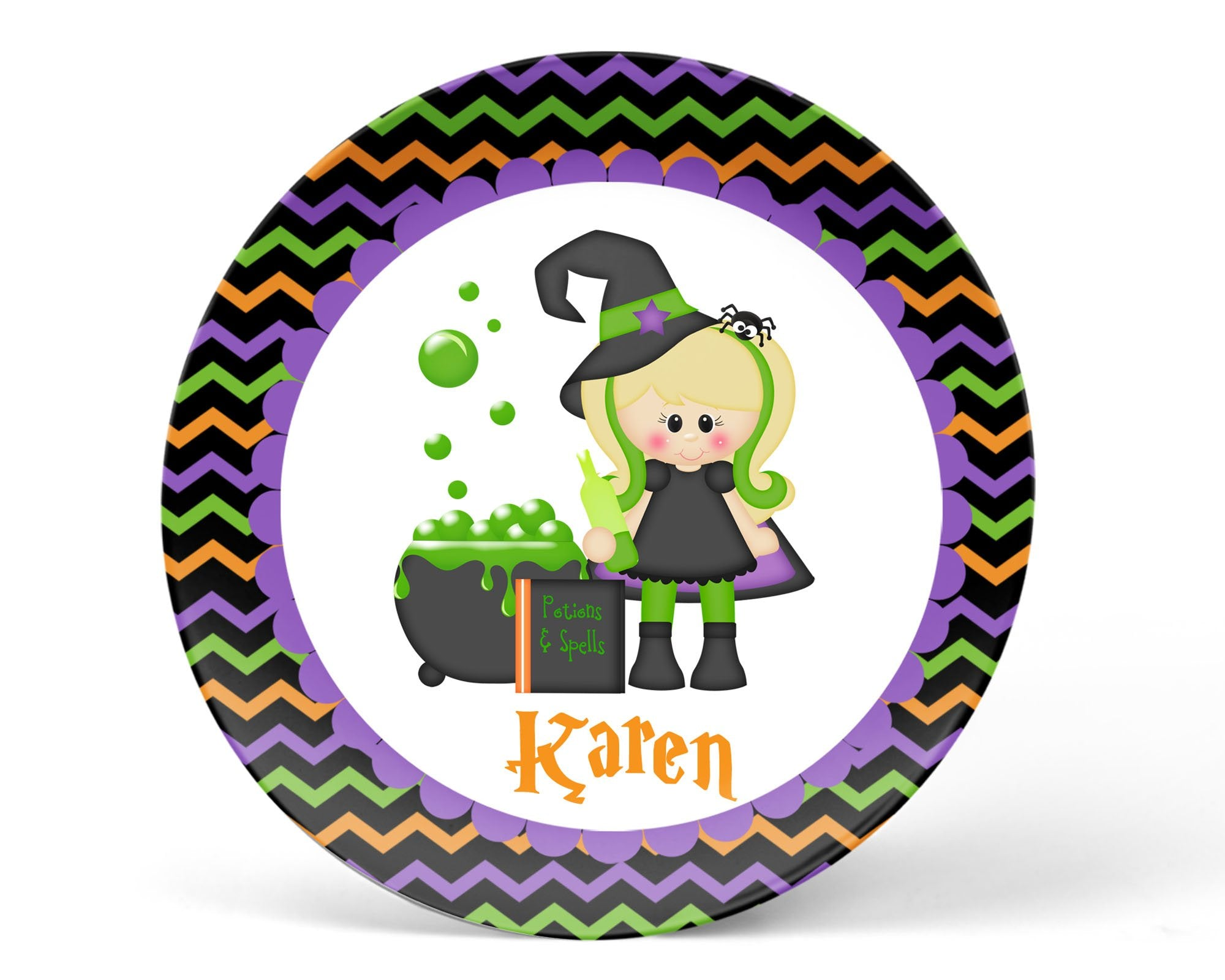 Witching You Halloween Kids Plate