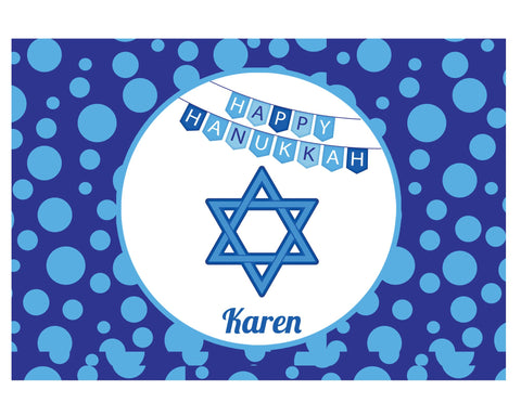 Hanukkah Star of David Placemat