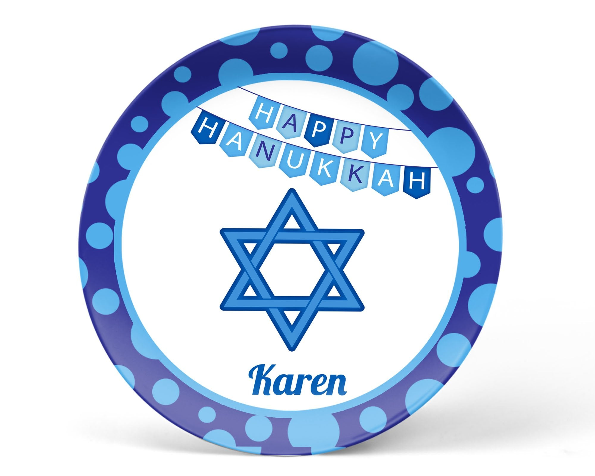 Hanukkah Star of David Kids Plate