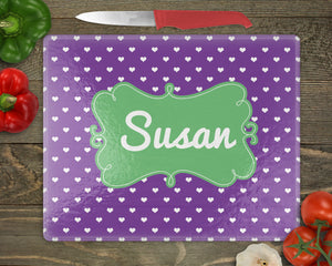 Hearts Personalized Cutting Board