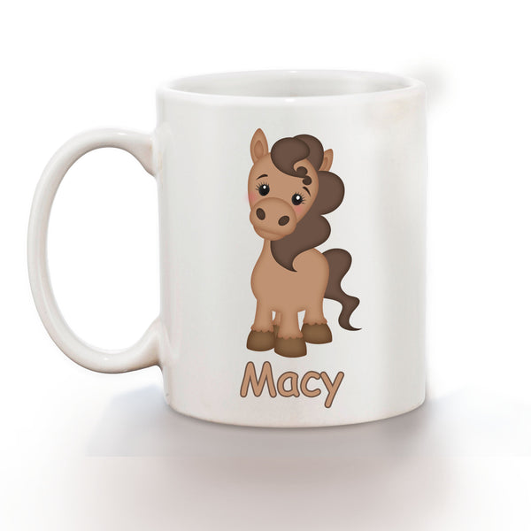 On the Farm Horse Kids Mug