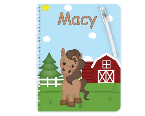 On the Farm Horse Kids Notebook