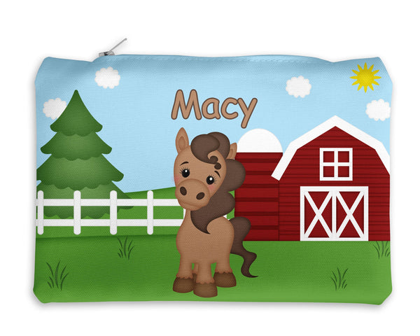 On the Farm Horse Kids Pencil Case