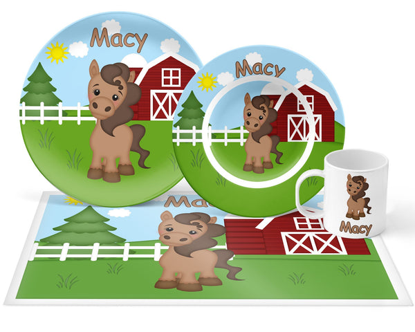 On the Farm Horse Kids Placemat