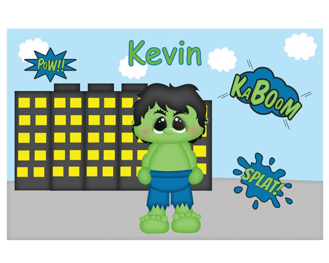 Hulk Superhero Kids Placemat