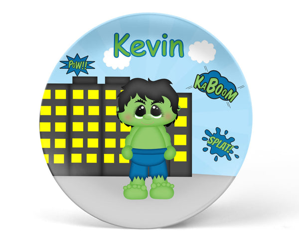 Hulk Superhero Kids Plate