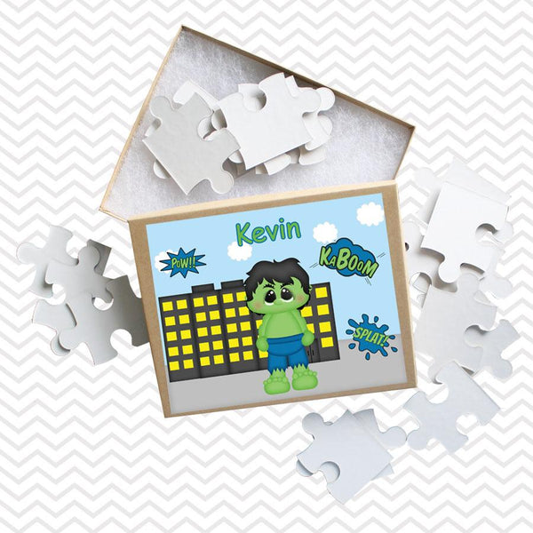 Hulk Superhero Kids Personalized Puzzle