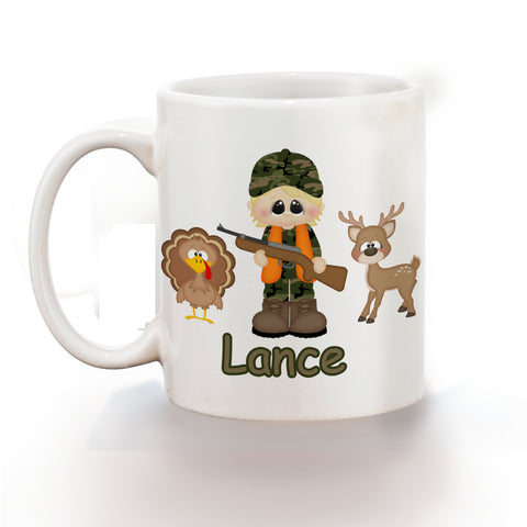 Hunting Boy Kids Mug