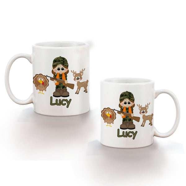 Hunting Girl Kids Mug