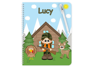 Hunting Girl Kids Notebook
