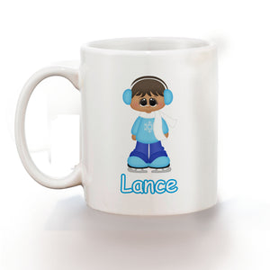Ice Skating Boy Kids Mug