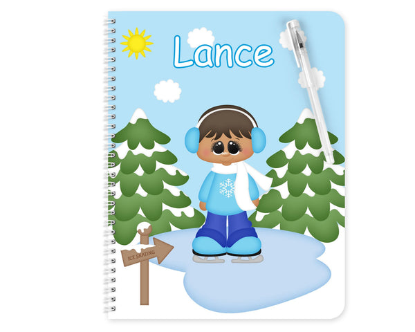 Ice Skating Boy Kids Pencil Case