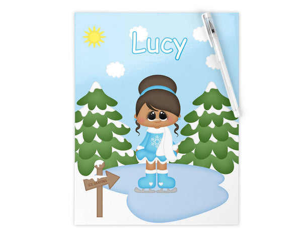Ice Skating Girl Kids Pencil Case