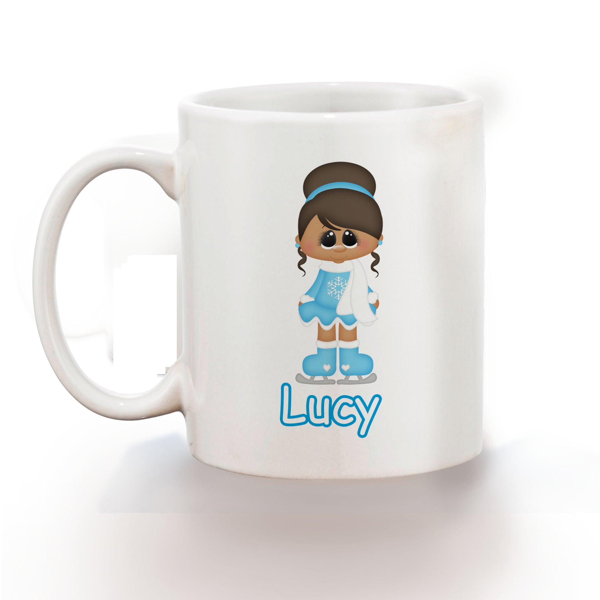 Ice Skating Girl Kids Mug