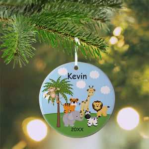 In the Jungle Christmas Ornament