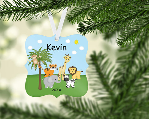 Jungle Safari Personalized Christmas Ornament