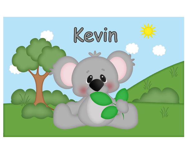 At the Zoo Koala Kids Placemat