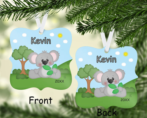 In the Jungle Koala Personalized Christmas Ornament