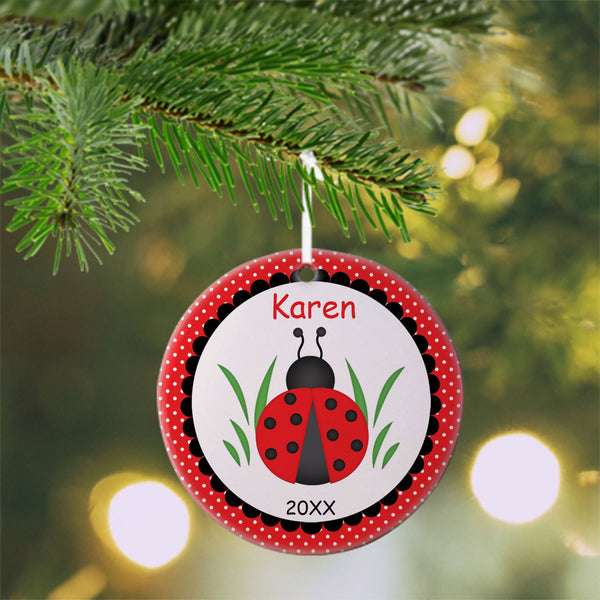 Ladybug Red Christmas Ornament