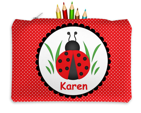 Ladybug Red Kids Pencil Case